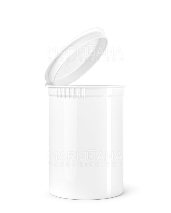 Child Resistant | Opaque White Pop Top Bottles | 30dr - 7g - 150 Count | Dispensary Supply | Marijuana Packaging