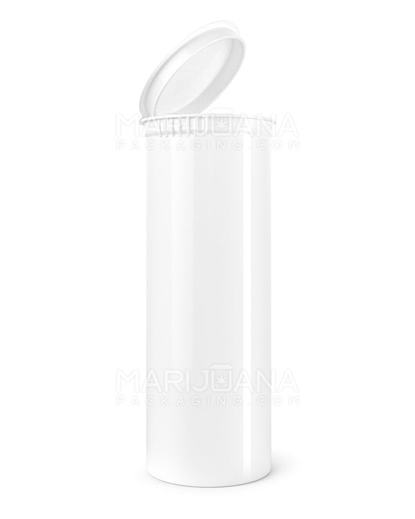 Child Resistant | Opaque White Pop Top Bottles | 60dr - 14g - 75 Count | Dispensary Supply | Marijuana Packaging