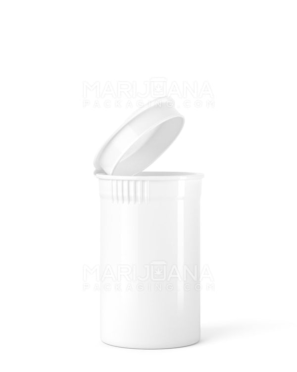Child Resistant | Opaque White Pop Top Bottles | 6dr - 1g - 600 Count | Dispensary Supply | Marijuana Packaging