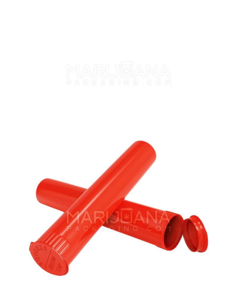 Child Resistant | Pop Top Pre-Roll Tubes | 95mm - Opaque Red Plastic - 1000 Count | Dispensary Supply | Marijuana Packaging