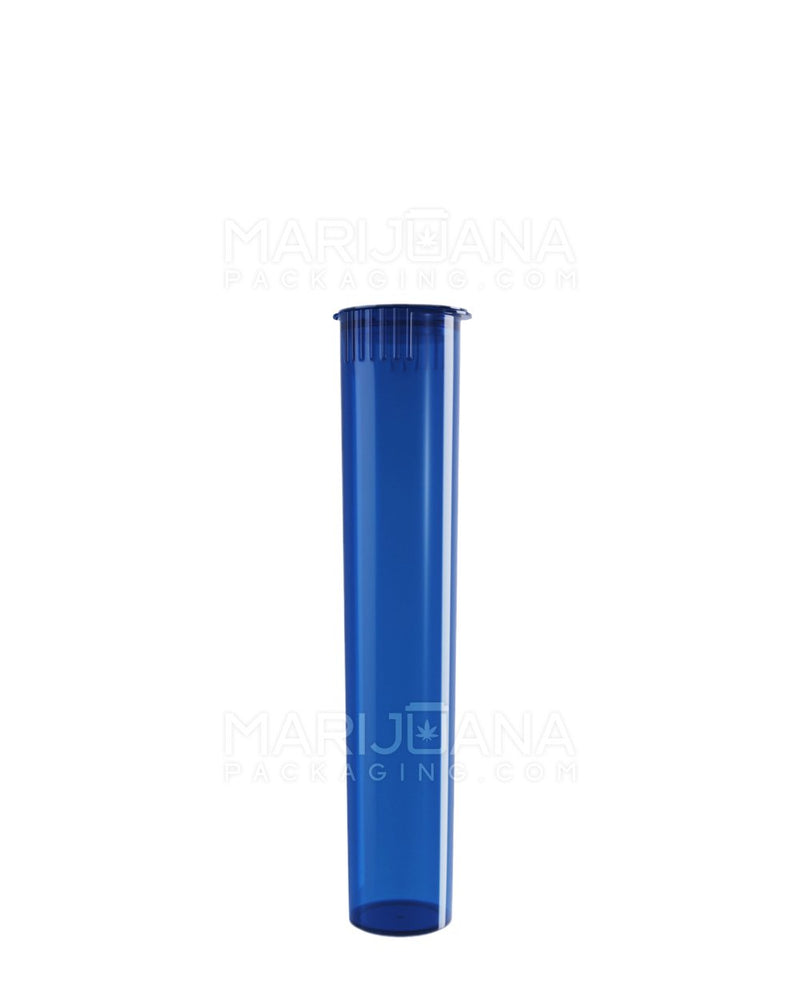 Child Resistant | Pop Top Pre-Roll Tubes | 95mm - Translucent Blue Plastic - 1000 Count | Dispensary Supply | Marijuana Packaging