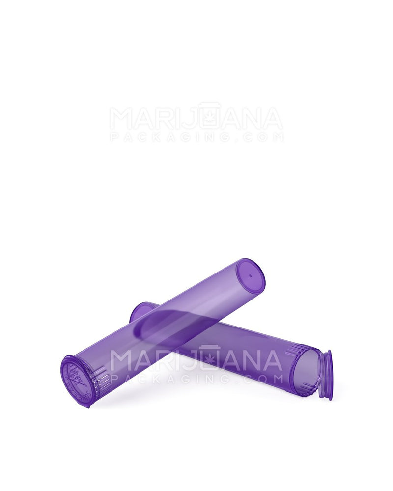Child Resistant | Pop Top Pre-Roll Tubes | 95mm - Translucent Purple Plastic - 1000 Count | Dispensary Supply | Marijuana Packaging
