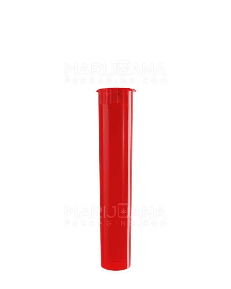Child Resistant | Pop Top Pre-Roll Tubes | 95mm - Translucent Red Plastic - 1000 Count | Dispensary Supply | Marijuana Packaging