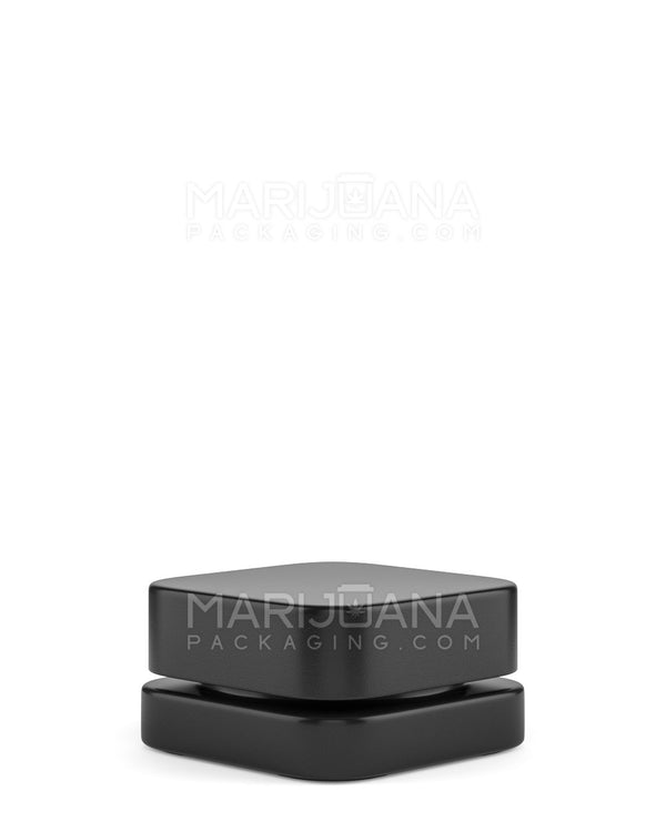 Child Resistant | Qube Black Glass Concentrate Jar with Black Cap | 28mm - 9ml - 250 Count | Dispensary Supply | Marijuana Packaging