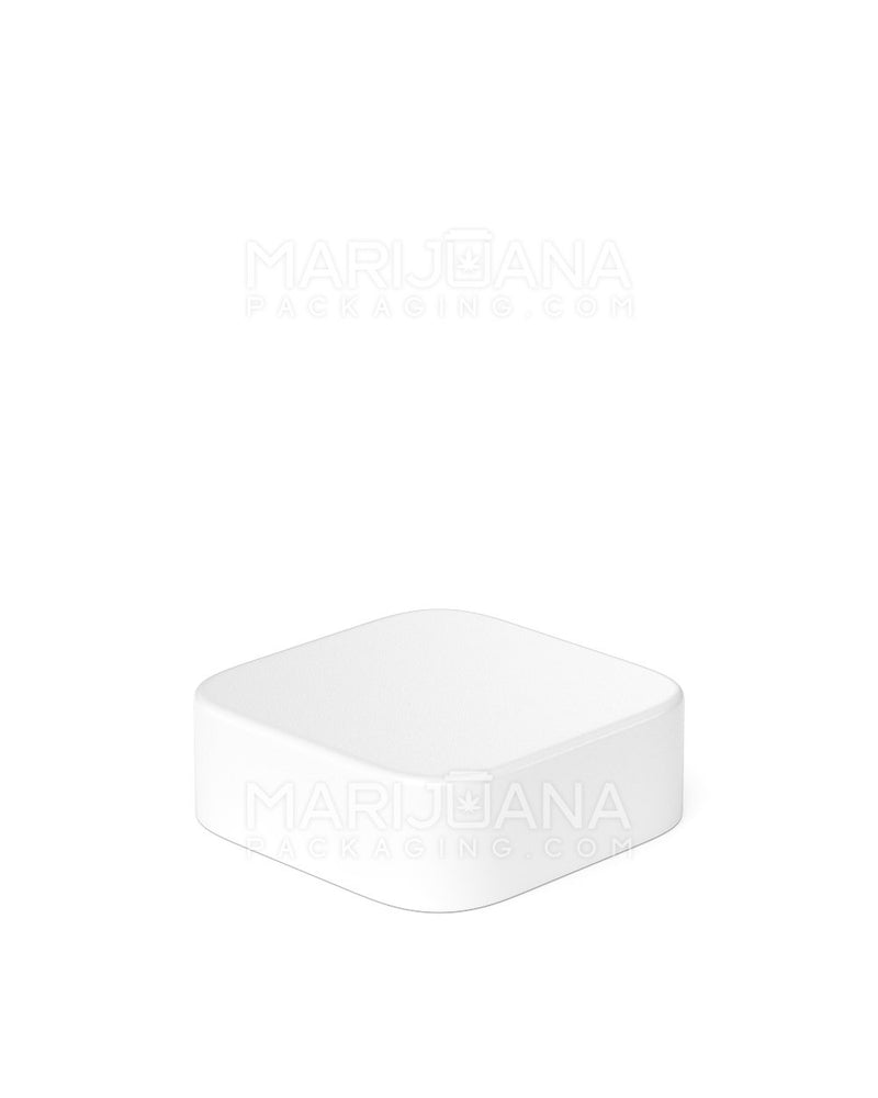 Child Resistant | Qube White Glass Concentrate Jar with White Cap | 24mm - 5ml - 250 Count | Dispensary Supply | Marijuana Packaging