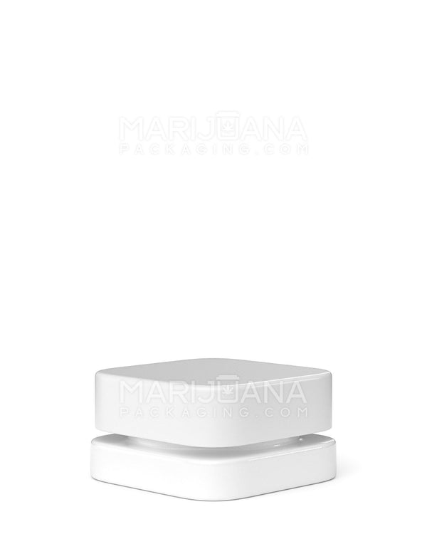 Child Resistant | Qube White Glass Concentrate Jar with White Cap | 28mm - 9ml - 250 Count | Dispensary Supply | Marijuana Packaging