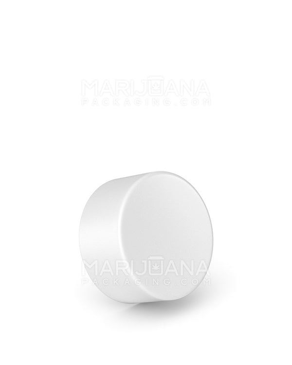 Child Resistant | Smooth Push Down & Turn Caps | 28mm - White Plastic - 504 Count | Dispensary Supply | Marijuana Packaging