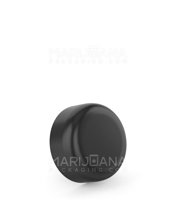 Child Resistant | Smooth Push Down & Turn Caps | 29mm - Black Plastic - 504 Count | Dispensary Supply | Marijuana Packaging