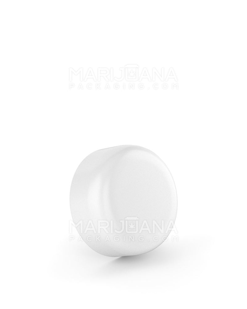 Child Resistant | Smooth Push Down & Turn Caps | 29mm - White Plastic - 504 Count | Dispensary Supply | Marijuana Packaging