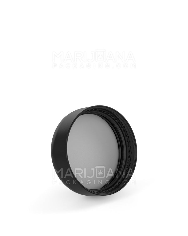 Child Resistant | Smooth Push Down & Turn Caps | 32mm - Black Plastic - 320 Count | Dispensary Supply | Marijuana Packaging