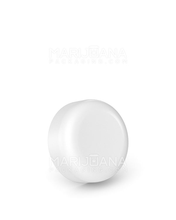 Child Resistant | Smooth Push Down & Turn Caps | 32mm - White Plastic - 320 Count | Dispensary Supply | Marijuana Packaging
