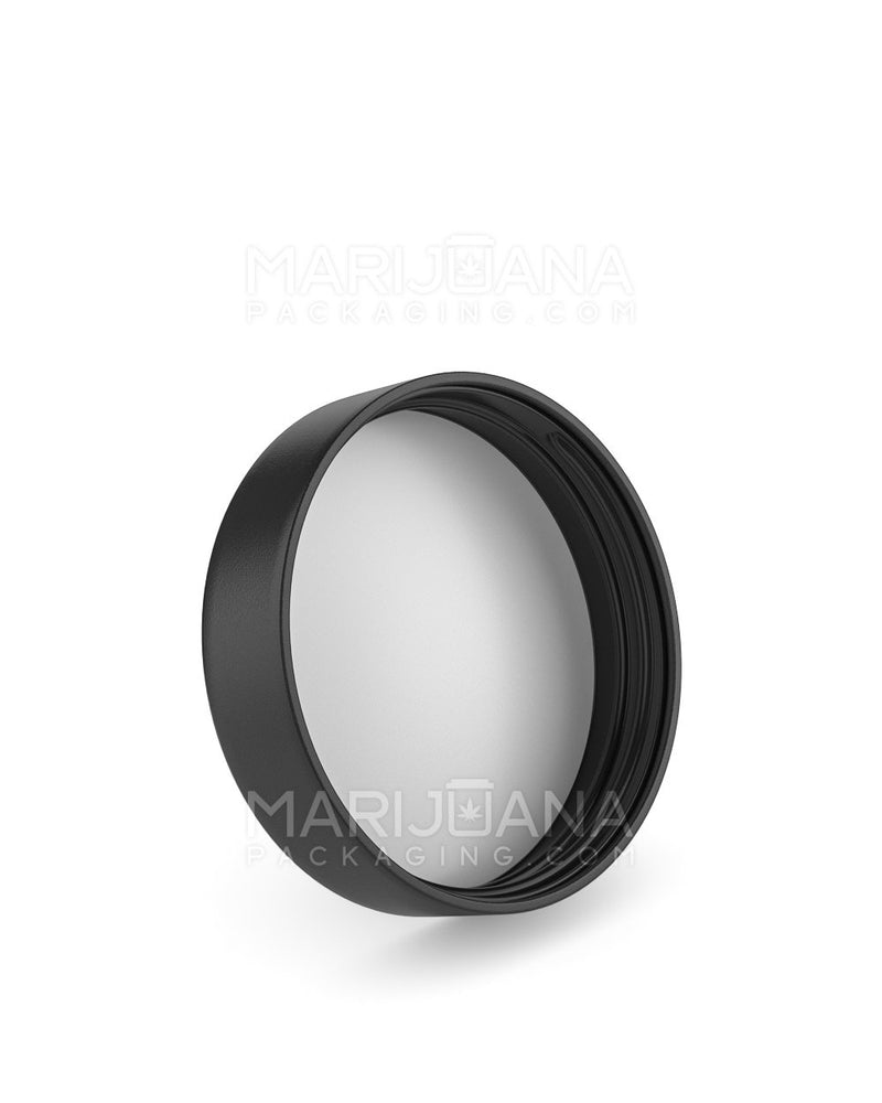 Child Resistant | Smooth Push Down & Turn Caps | 57mm - Black Plastic - 72 Count | Dispensary Supply | Marijuana Packaging