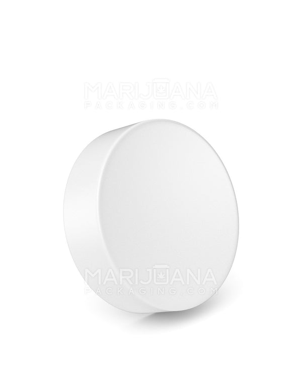Child Resistant | Smooth Push Down & Turn Caps | 63mm - White Plastic - 96 Count | Dispensary Supply | Marijuana Packaging