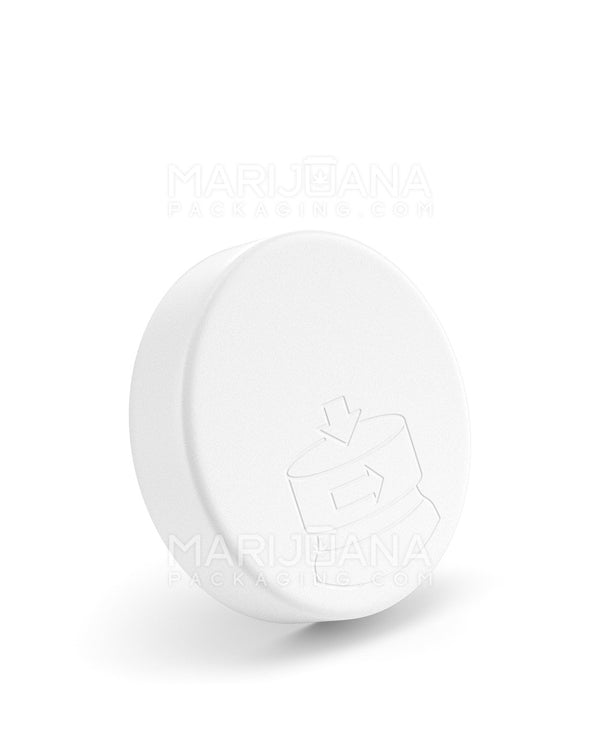 Child Resistant | Smooth Push Down & Turn Caps | 70mm - White Plastic - 36 Count | Dispensary Supply | Marijuana Packaging