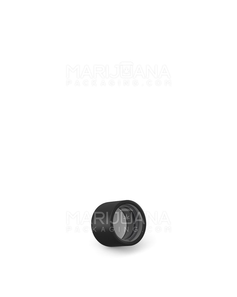 Child Resistant | Smooth Push Down & Turn Caps for Glass Tube | 22mm - Black Matte Plastic - 400 Count | Dispensary Supply | Marijuana Packaging