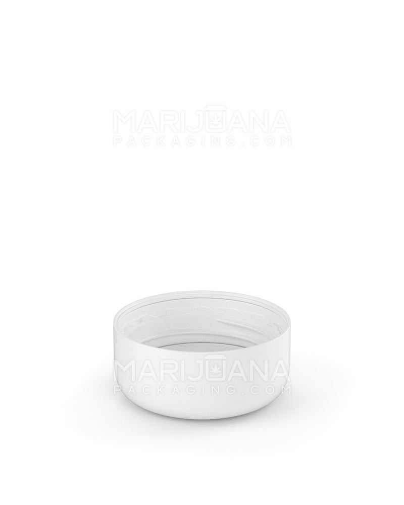 Child Resistant | Smooth Push Down & Turn Caps with Text | 29mm - White Plastic - 504 Count | Dispensary Supply | Marijuana Packaging