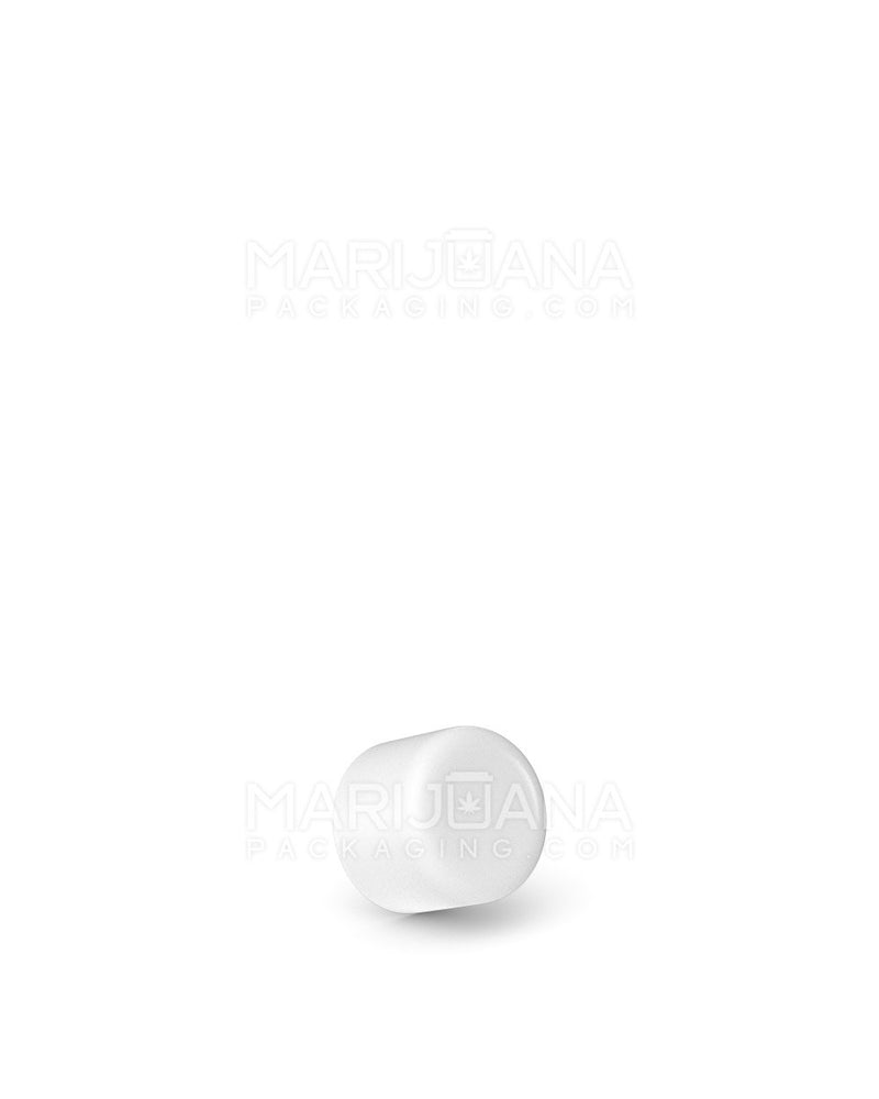 Child Resistant | Smooth Push Down & Turn Dome Caps for Glass Tube | 18mm - White Matte Plastic - 702 Count | Child Resistant Packaging | Marijuana Packaging