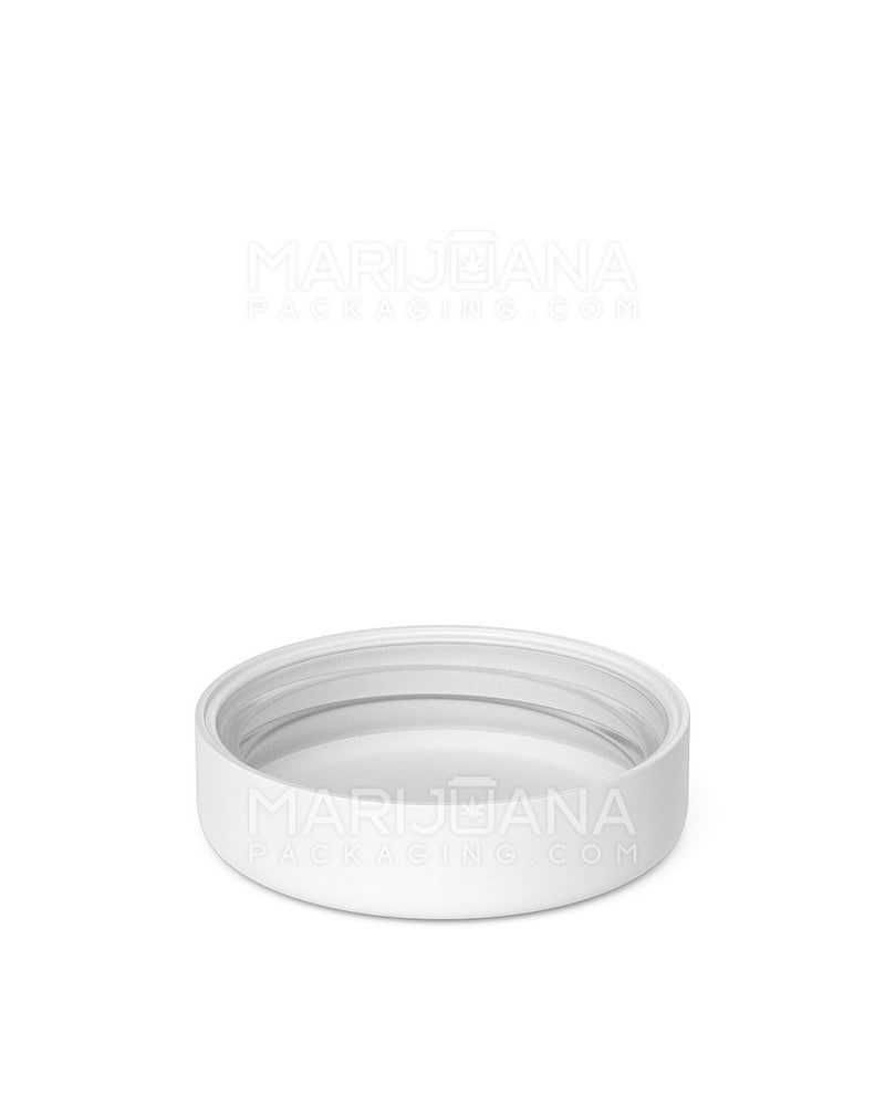 Child Resistant | Smooth Screw Top Caps | 53mm - White Plastic - 120 Count | Dispensary Supply | Marijuana Packaging