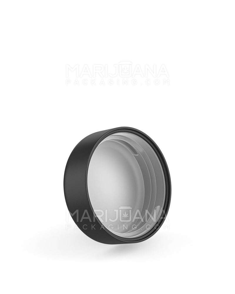 Child Resistant | Smooth Screw Top Caps with Foam Liner | 38mm - Matte Black Plastic - 288 Count | Dispensary Supply | Marijuana Packaging