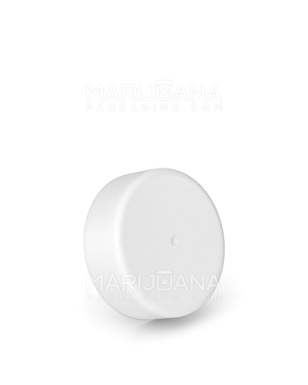 Child Resistant | Smooth Screw Top Caps with Foam Liner | 38mm - Matte White Plastic - 288 Count | Dispensary Supply | Marijuana Packaging