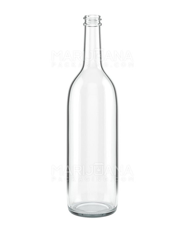 Clear Glass Bottles | 28mm - 750ml - 12 Count | Dispensary Supply | Marijuana Packaging