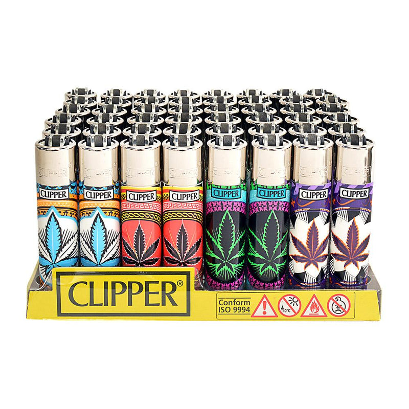 Clipper Lighter Neon Leaves - 48 Count