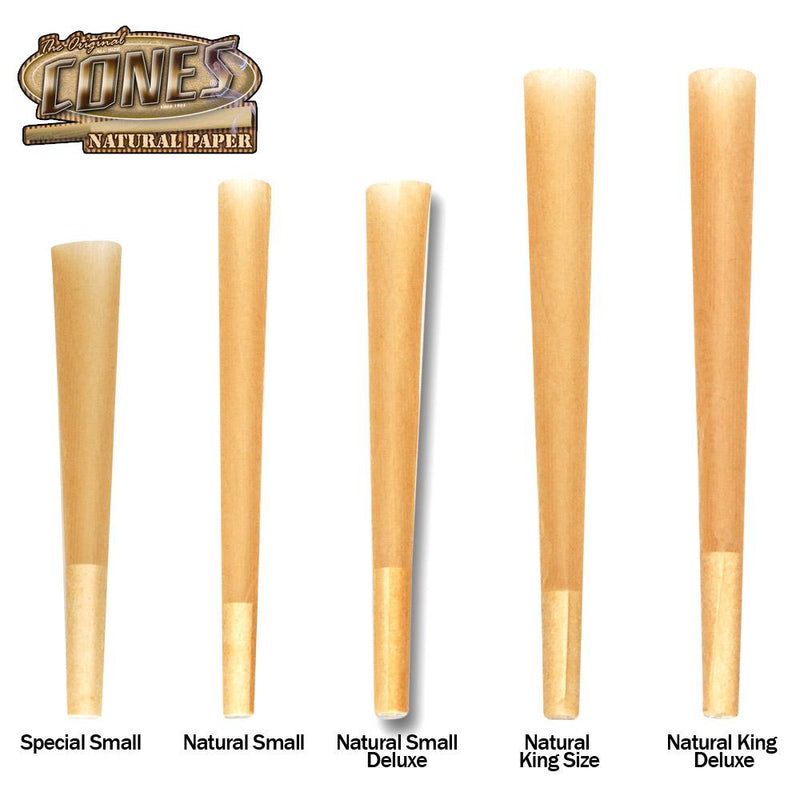 Cones Pre-Rolled Natural Small Deluxe 98 x 26mm