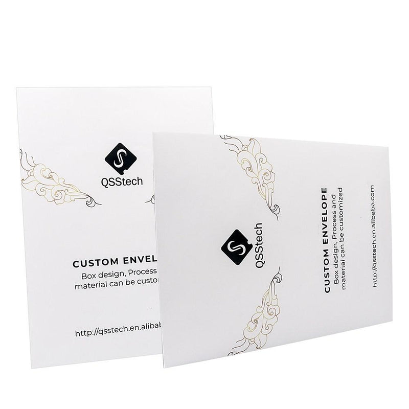 Custom Large Shatter Envelope - Black & White