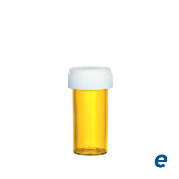 Economy Reversible Cap Vial Amber 13 Dram - 275 Count | Dispensary Supply | Marijuana Packaging