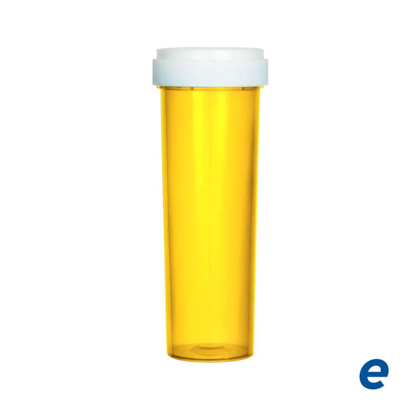 Economy Reversible Cap Vial Amber 60 Dram - 100 Count | Dispensary Supply | Marijuana Packaging
