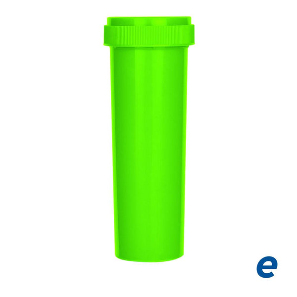 Economy Reversible Cap Vial Neon Green 60 Dram - 100 Count | Dispensary Supply | Marijuana Packaging