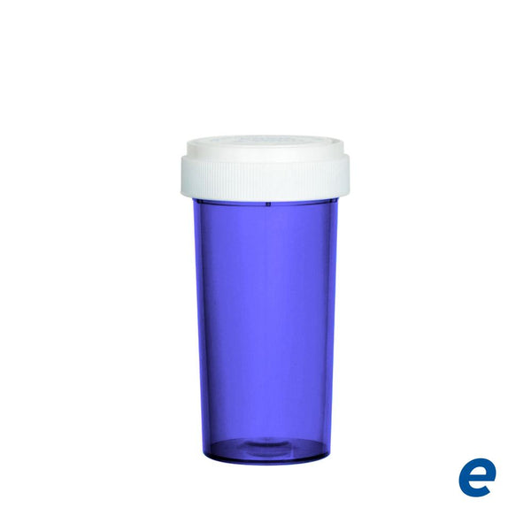Economy Reversible Cap Vial Purple 40 Dram - 150 Count | Dispensary Supply | Marijuana Packaging
