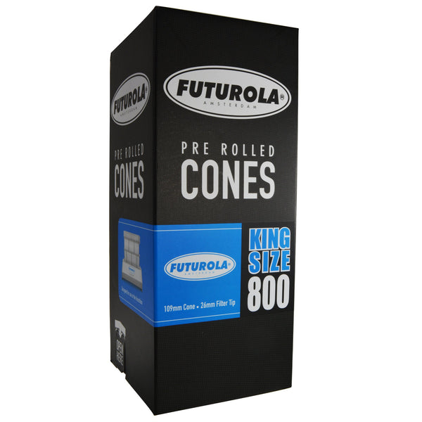 Futurola White Pre Rolled Cones - King Size 109/26 - 800 Count
