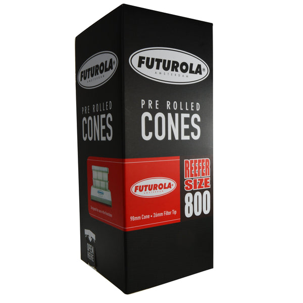 Futurola White Pre Rolled Cones - Reefer 98/26 - 800 Count