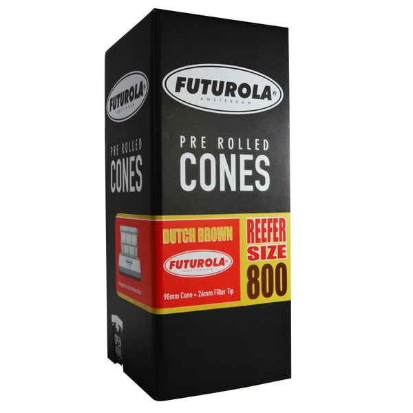 Futurola Dutch Brown Pre Rolled Cones - Reefer Size 98/26 - 800 Count