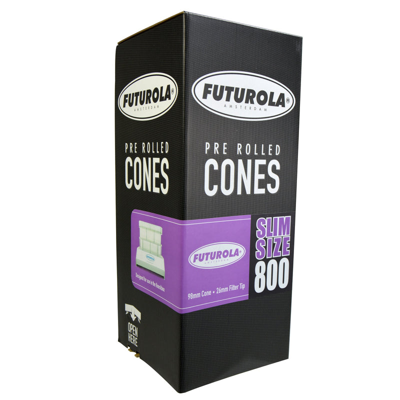 Futurola Pre Roll Cones Slim Size - 98mm - 800 Count