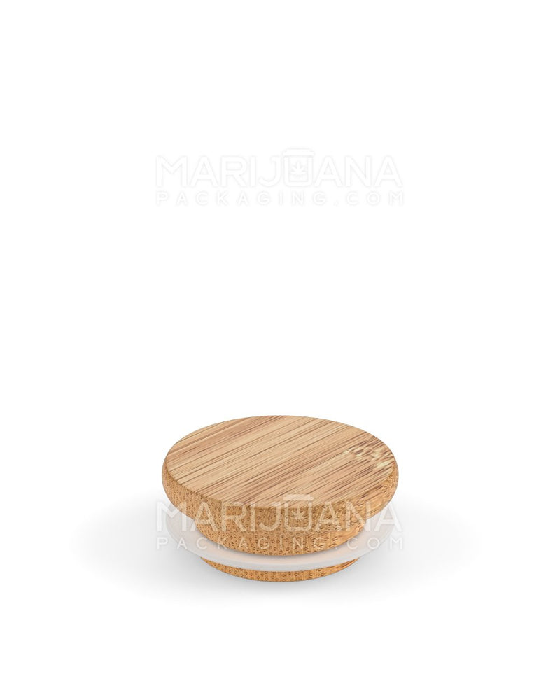 Glass Jar with Wooden Lid | Clear Glass - 2oz - 200 Count | Dispensary Supply | Marijuana Packaging