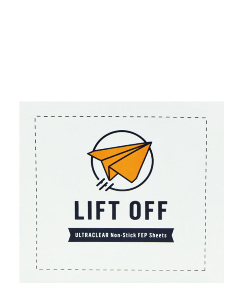 "Lift Off Ultraclear Non-Stick FEP Sheets - 4"" x 4"" - 500 Count 