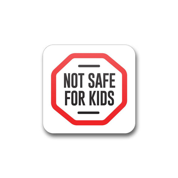 "Massachusetts Not Safe For Kids Label - 1"" x 1"" - 1,000 Count"