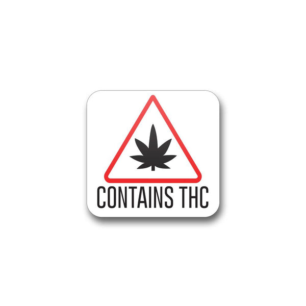 Massachusetts THC .75x.75 Triangle Label - 1,000 Count