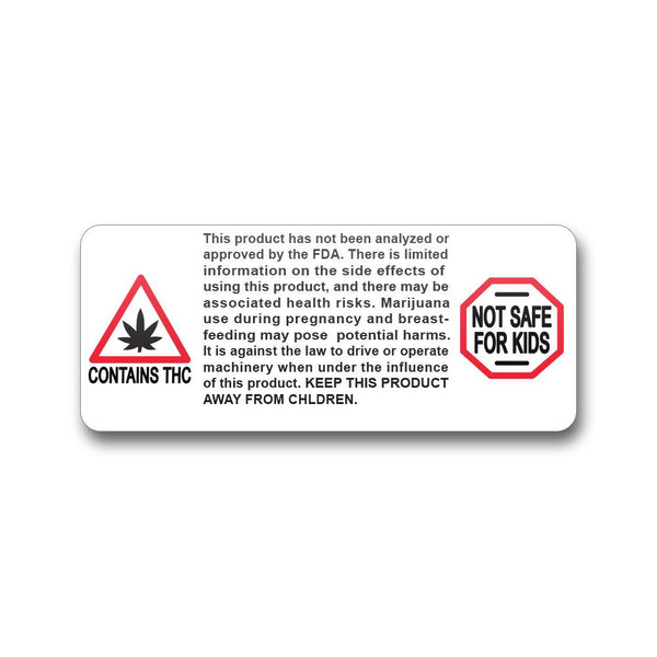 Massachusetts Warning Label - 1,000 Count