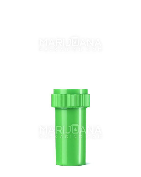 Opaque Lime Green Reversible Cap Vial 2.0 | 13dr - 2g - 275 Count | Dispensary Supply | Marijuana Packaging