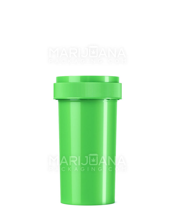Opaque Lime Green Reversible Cap Vial 2.0 | 40dr - 10g - 150 Count | Dispensary Supply | Marijuana Packaging