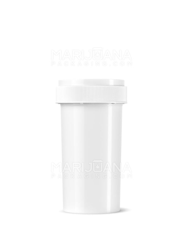 Opaque White Reversible Cap Vial 2.0 | 40dr - 10g - 100 Count | Dispensary Supply | Marijuana Packaging