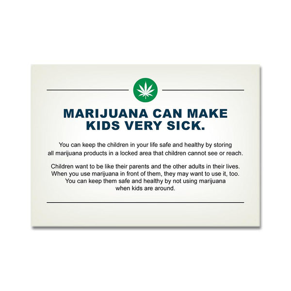 Oregon Marijuana & Children Safety Awareness Card - 1,000 Count