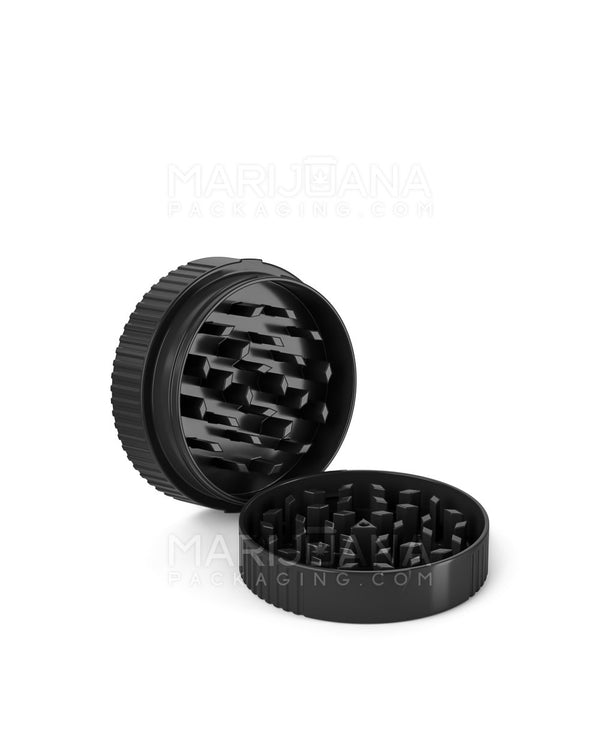 Plastic Grinder CR Cap - Fits onto 40/60 Dram Vials - Black - 50 Count | Dispensary Supply | Marijuana Packaging