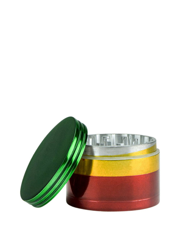 Rasta Metal Grinder - 50mm | Smoke Shop Supply | Marijuana Packaging