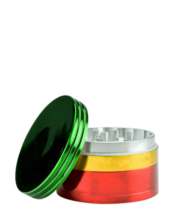 Rasta Metal Grinder - 63mm | Smoke Shop Supply | Marijuana Packaging