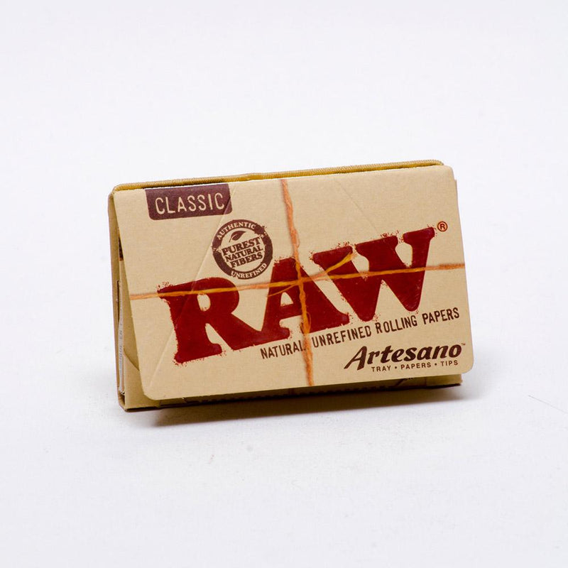 "RAW Artesano 1 1/4"" Rolling Papers + tips display box"
