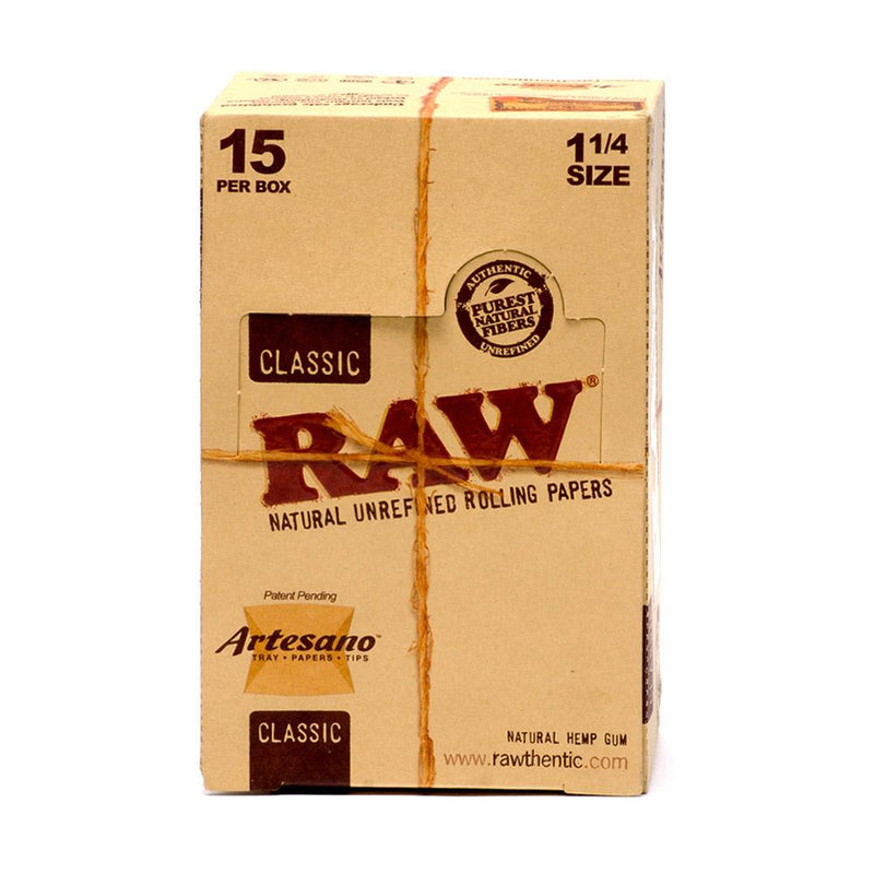 "RAW Artesano 1 1/4"" Rolling Papers with Tips"